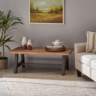 Dolenz Rustic Wood Coffee Table by Christopher Knight Home