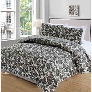 Cameryn Collection 3-Piece Printed Quilt Set with Shams