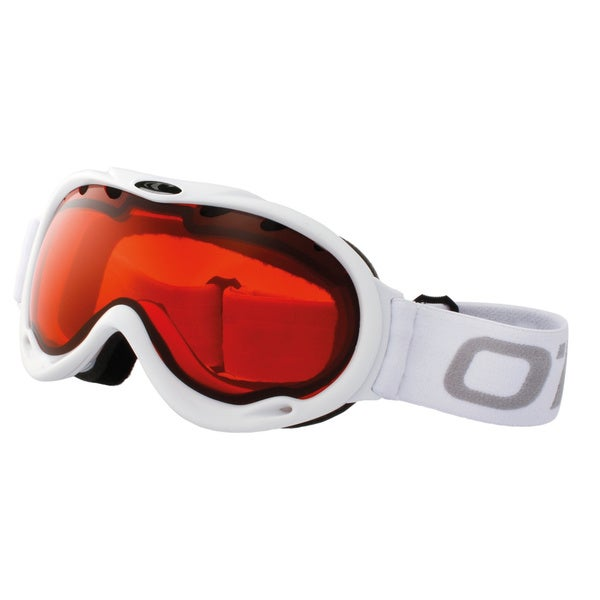 SnowGoggles Medium White Orange Lens