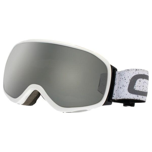SnowGoggles Medium White Silver Mirror