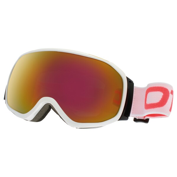 SnowGoggles Medium White Red Mirror