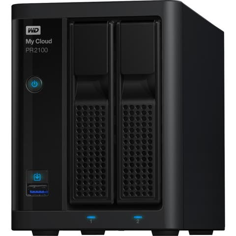 WD 0TB My Cloud PR2100 Pro Series Diskless Media Server with Transcoding, NAS - Network Attached Storage