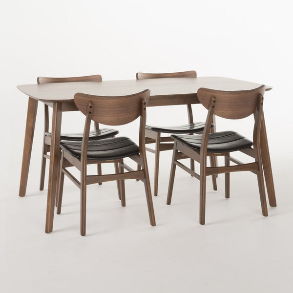 Anise Mid-Century 5-piece Rectangle Dining Set by Christopher Knight Home
