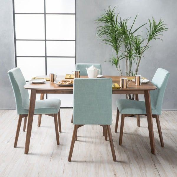 Orrin Mid-Century 5-piece Rectangle Dining Set by Christopher Knight Home