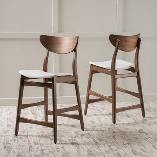 Gavin Mid-Century Wood Counter Stool (Set of 2) by Christopher Knight Home