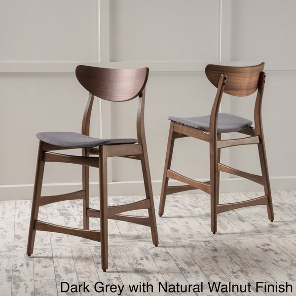 Mid Century Counter Stools Part - 15: Gavin Mid-Century 24-inch Wood Counter Stool (Set Of 2) By Christopher  Knight Home - Free Shipping Today - Overstock.com - 19657670