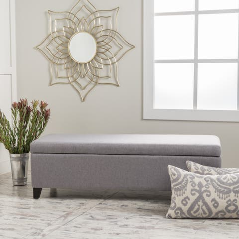 Gable Fabric Storage Ottoman by Christopher Knight Home