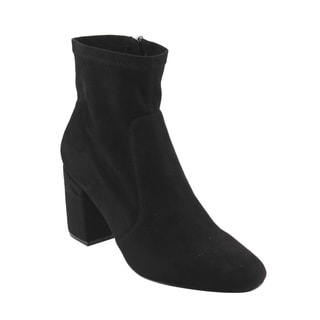 X2B Women's GF26 Side Zipper Covered Block Heel Stretchy Ankle Booties