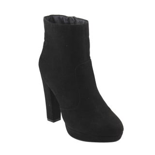 Bonnibel GF25 Women's Inside Zipper Wrapped Block Heel Platform Ankle Booties (More options available)