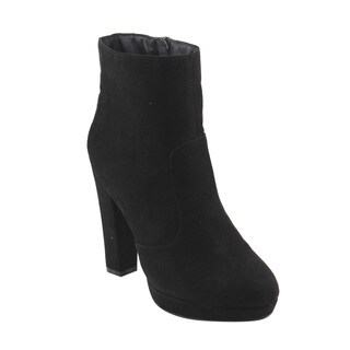 Bonnibel GF25 Women's Inside Zipper Wrapped Block Heel Platform Ankle Booties