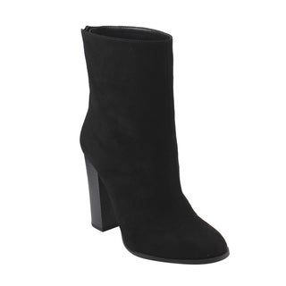 Women's Back Faux-suede High-heel Ankle High Booties