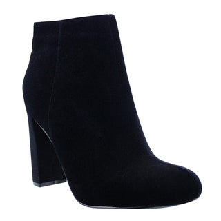 Liliana GE33 Women's Covered Block Heel Interior Zip Ankle Booties