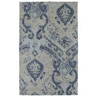 Super Soft Denim Damask Microfiber Rug (2'0 x 3'0) - 2' x 3'