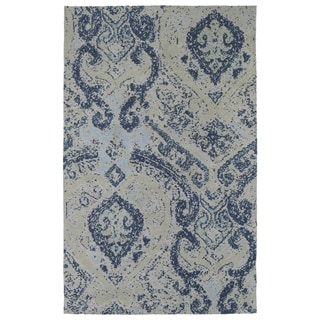 Super Soft Denim Damask Microfiber Rug (9'0 x 12'0)