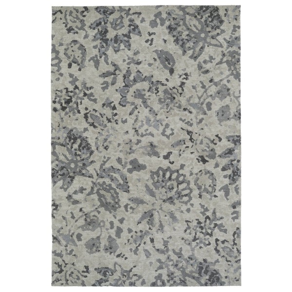 Shop Super Soft Grey Floral Microfiber Rug 3 X 5 On