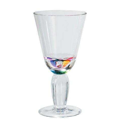 Merritt International 24040 Rainbow Diamond Wine Glass