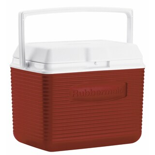 Rubbermaid FG2A1104MODRD 10 Quart Modern Red Personal