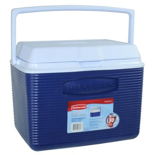 Rubbermaid FG2A1304MODBL 24 Quart Modern Blue Personal Cooler