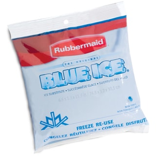 "Rubbermaid FG1006TL220 8"" X 7"" X 1-1/2"" Blue Ice Soft Pack"