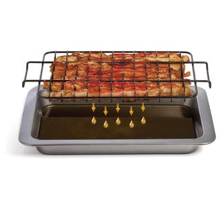 Chef Tony Steel Grease-away Bacon Pan