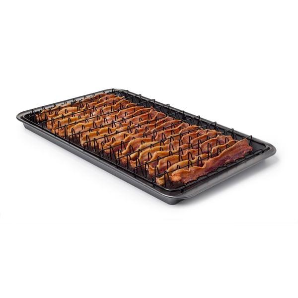 Chef Tony Grease Away Mega Bacon Pan With Tong