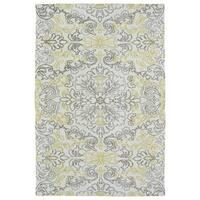 Super Soft Ivory Floral Microfiber Rug (9'0 x 12'0) - 9' x 12'