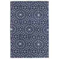 Super Soft Denim Blue Mosaic Microfiber Rug - 2' x 3'