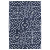 Super Soft Denim Blue Mosaic Microfiber Rug - 9' x 12'