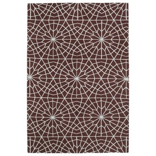 Super Soft Burgundy Mosaic Microfiber Rug (8'0 x 10'0)