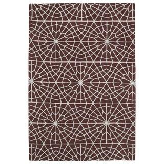 Super Soft Burgundy Mosaic Microfiber Rug (9'0 x 12'0)