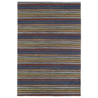 Littles Multi Stripe Microfiber Rug (4'0 x 6'0)