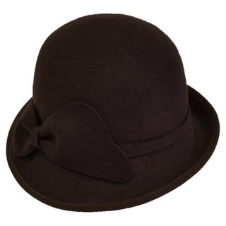 Hat by Swan Cashmere Brown Cloche Hat