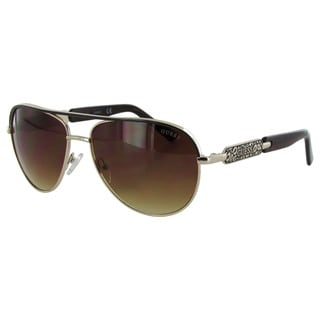 Guess Womens GF0287 Wire Frame Aviator Fashion Sunglasses