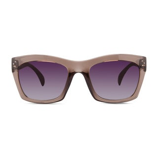 Christian Siriano Julia Grey/Purple Sunglasses