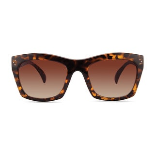 Christian Siriano Julia Brown/Rose Plastic Sunglasses
