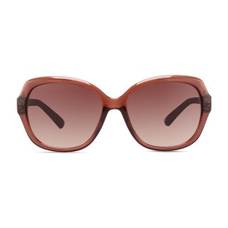 Christian Siriano Kate Women's Pink Frame Rose Lenses Sunglasses