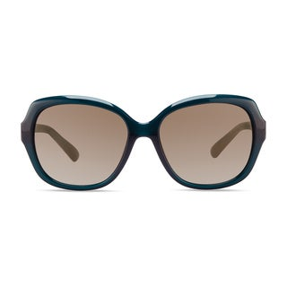Christian Siriano Kate Women's Green/Brown Plastic Full-frame Oval Fashion Sunglasses