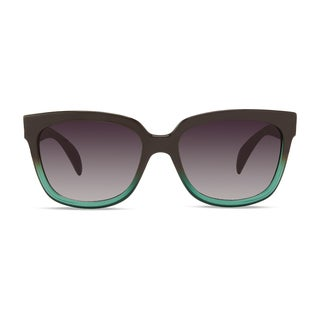 Christian Siriano Edie Green/Grey Sunglasses