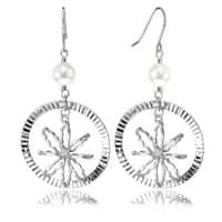 Avanti 14K White Gold Freshwater Pearl Circle Earrings