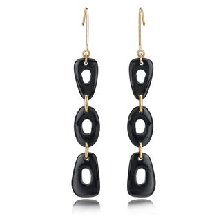 Avanti 14K Yellow Gold Black Onyx Dangle Earrings
