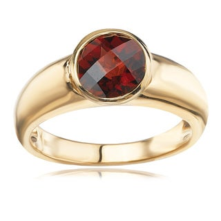 Avanti 14K Yellow Gold Round Faceted Garnet Fashion Ring