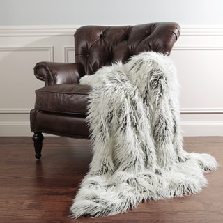 Need Description Aurora Home Tibetan Lamb Faux Fur Throw Blanket by Wild Mannered