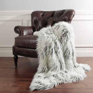Need Description Aurora Home Tibetan Lamb Faux Fur Throw Blanket by Wild Mannered