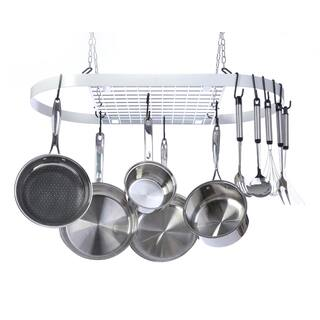 Kinetic GoGreen Classicor White Wrought Iron Oval Pot Rack https://ak1.ostkcdn.com/images/products/12914118/P19669393.jpg?impolicy=medium