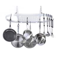Kinetic GoGreen Classicor White Wrought Iron Oval Pot Rack