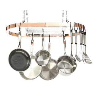 Kinetic GoGreen Classicor Wrought-Iron Copper-style Oval Pot Rack|https://ak1.ostkcdn.com/images/products/12914122/P19669396.jpg?impolicy=medium