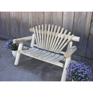 White Cedar Log Rustic Park Bench (3 options available)