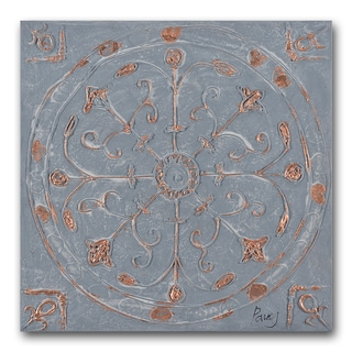 Benjamin Parker 'Touch of Copper I' 24-inch Hand-painted Wall Art