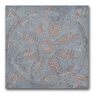 Benjamin Parker 'Touch of Copper II' 24-inch Hand-Painted Wall Art