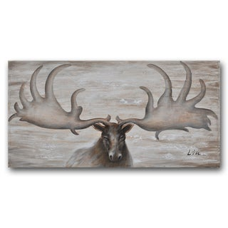 Benjamin Parker 'Moose' Wood 24-inch x 48-inch Hand-painted Wall Art